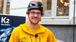 """Niels (33) beklimt Antwerpse gevel: """"Bescheiden voorproefje van het échte werk: de levensgevaarlijke K2"""""""