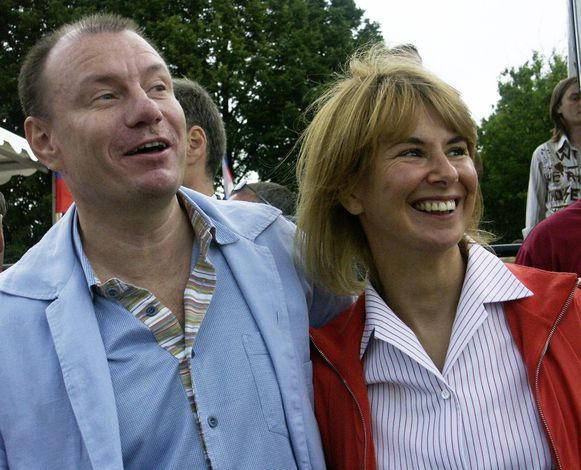 Vladimir Potanin en Natalia toen alles nog koek en ei was.