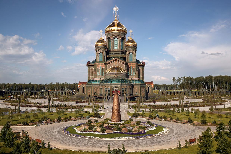 De enorme Orthodoxe kathedraal voor de Russische strijdkrachten. Beeld Valery Sharifulin/TASS