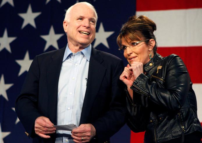 John McCain en Sarah Palin.