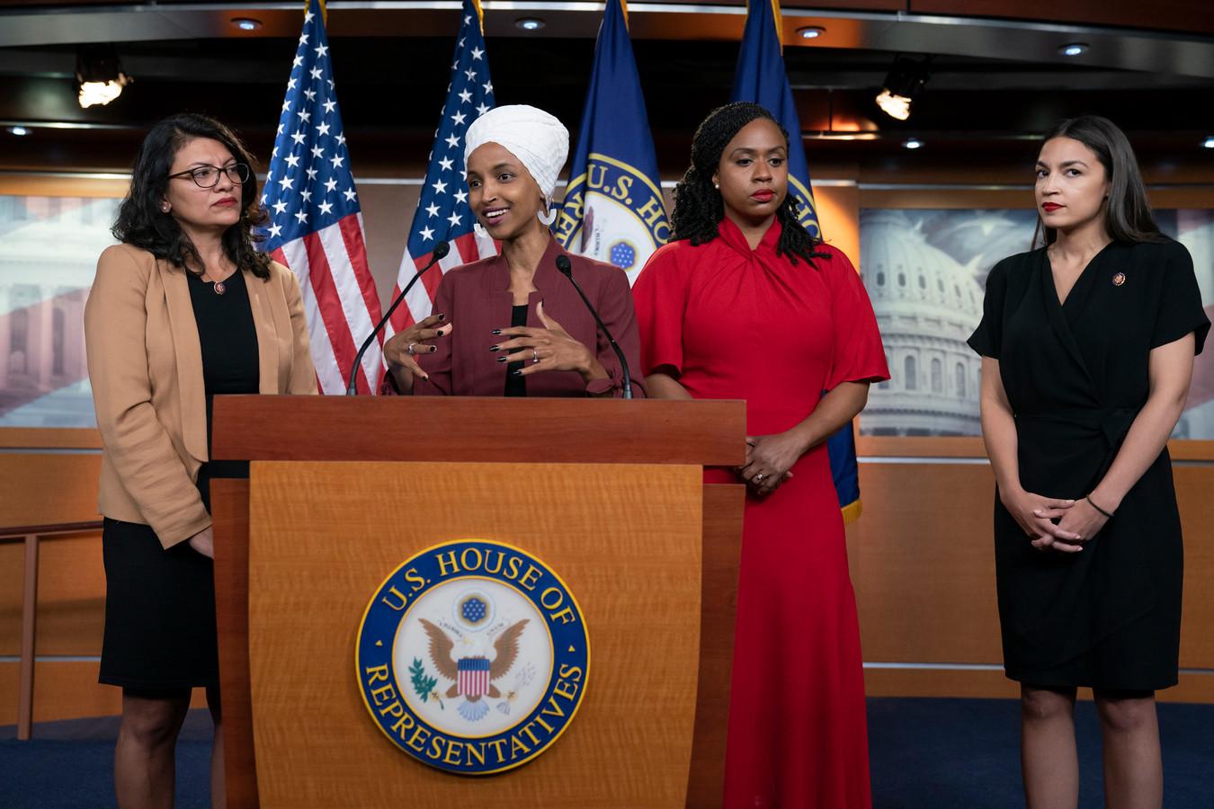 Rashida Tlaib, Ilhan Omar, Ayanna Pressley et Alexandria Ocasio-Cortez ont répondu aux remarques du président américain.