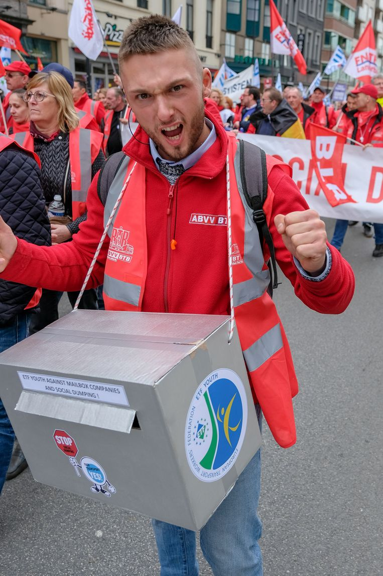Europese betoging transportsector