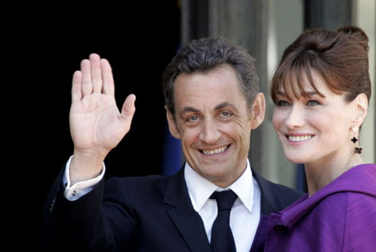 ,,Ik zou graag kinderen willen met Nicolas. Het zou een droom zijn'', aldus het voormalige fotomodel en zangeres. Foto AP Beeld