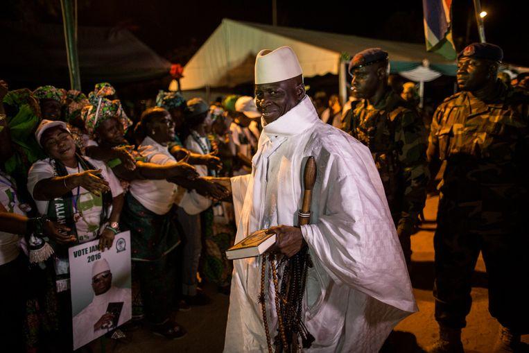 Ex-president Yahya Jammeh in 2016. Beeld AFP