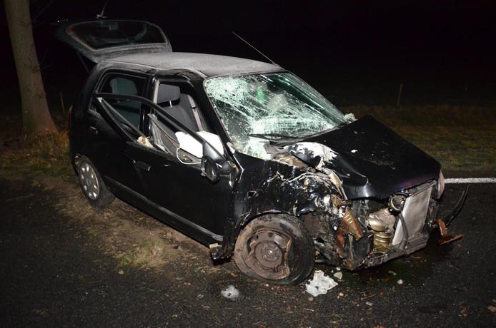 Van de Suzuki bleef door het ongeluk weinig meer over.