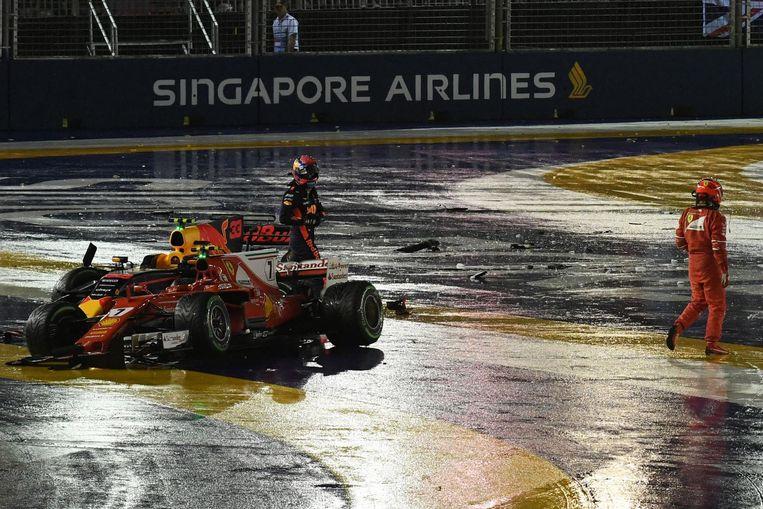 Vorige week in Singapore werd ook gezweet. Beeld afp