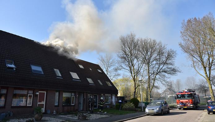 De woningbrand aan het Korenveld in Beuningen