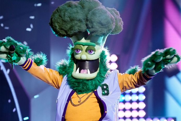 De broccoli in The Masked Singer.
