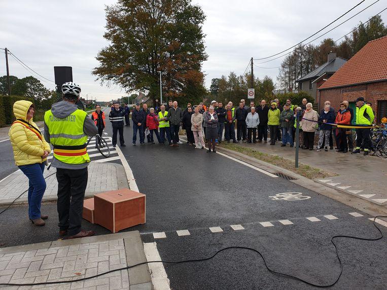 De opening van het nieuwe fietspad tussen Lichtaart en Poederlee.