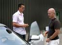 Richard Krajicek en zijn coach Rohan Goetzke.