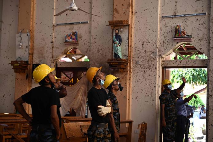 De Sint Sebastiaan kerk werd gisteren volledig verwoest.