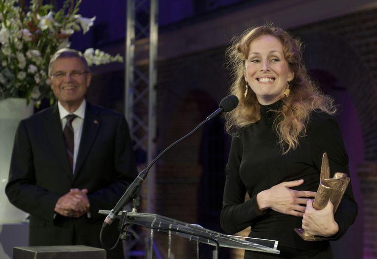 De Nederlandse schrijfster Marente de Moor wint de AKO Literatuurprijs 2011. © ANP Beeld