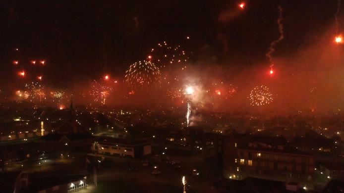 Vuurwerk boven Urk