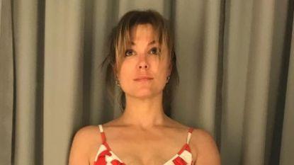"""Evi Hanssen deelt opmerkelijke foto: """"Onzekerheid in het pashokje. Een badpak kopen"""""""