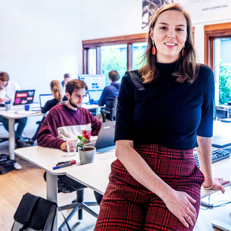 Nina Hoff van byFlow:  'De mogelijkheden zijn oneindig. We hebben eigen software ontwikkeld waarin koks zelf ook kunnen ontwerpen.' Beeld null