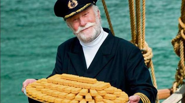 Gerd Deutschmann in zijn beroemde rol als Kapitein Iglo
