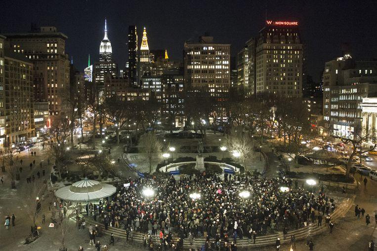 #JeSuisCharlie in New York.