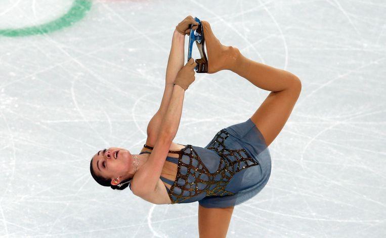 Adelina Sotnikova tijdens de Winterspelen in Sotchi Beeld afp