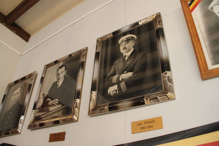 Een portret van Josep Versavel in het Vredesmuseum van Meulebeke.