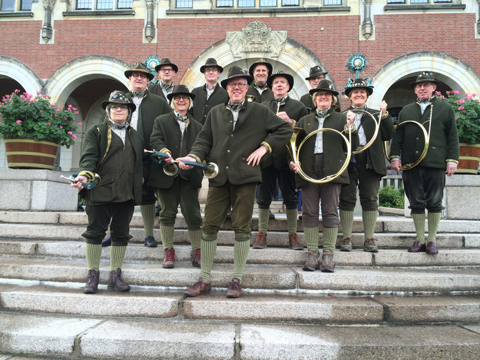 Jachthoornblazersgroep Polderluid uit Numansdorp werd derde  tijdens het Nederlands Kampioenschap in Strijen.