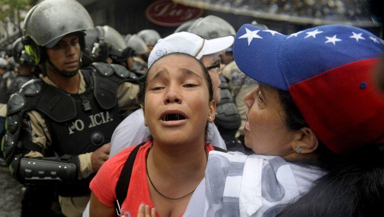 Verschillende burgers werden opgepakt tijdens het protest.