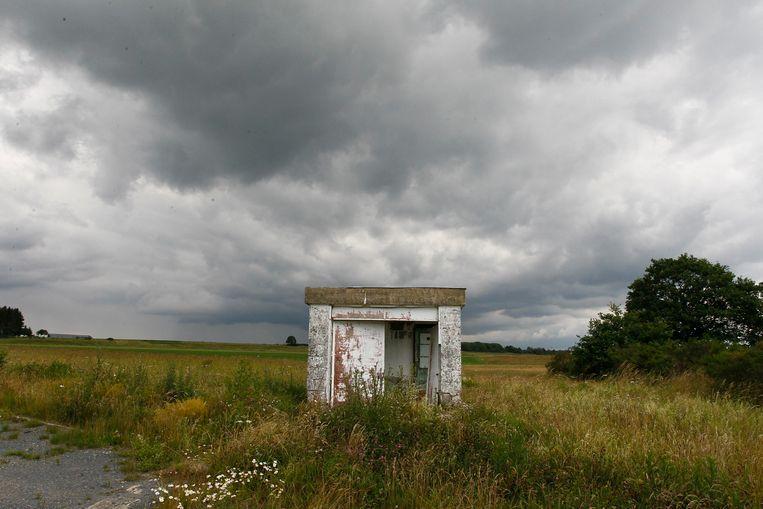 Een van de ingangen van het munitiedepot in Bertrix.