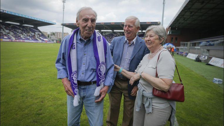 Rik Coppens, zijn vrouw Denise en vriend Jean Verrept
