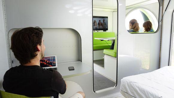 Aparte kamers, licht en luxe karakteriseren het interieur