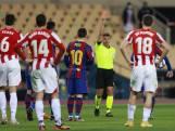 Messi loopt tegen rode kaart aan in rampavond Barca