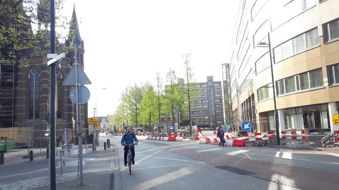 De Kanaalstraat in Eindhoven gaat na Pasen op de schop tussen Tramstraat en Nachtegaallaan.