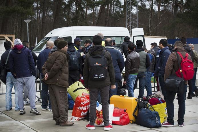De aankomst van vluchtelingen. Foto: ANP