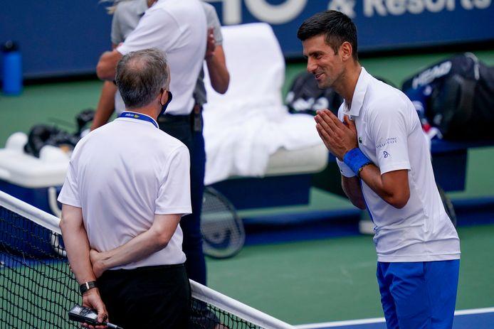 Djokovic probeerde de spelleiding nog op andere gedachten te brengen, maar dat lukte niet.