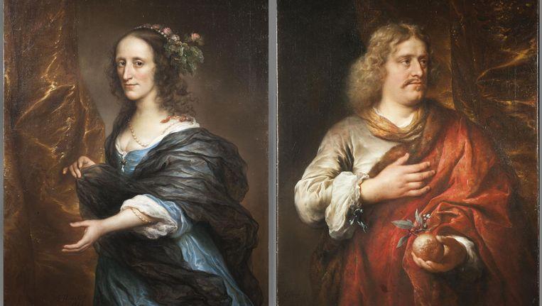 Zijn dit Johan de Mauregnault en zijn vrouw Petronella? Beeld Ann-Cathleen Tischer/Amsterdam Museum