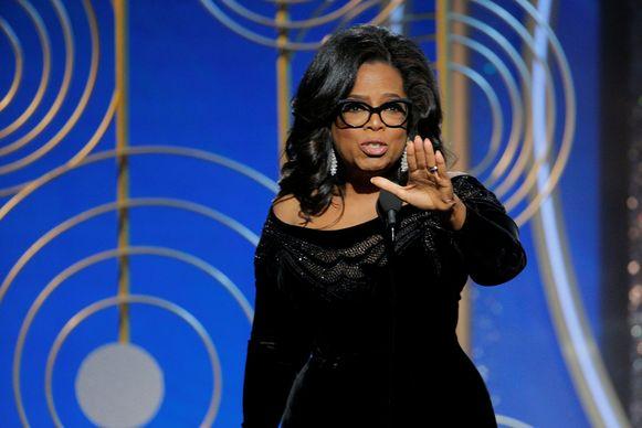 Oprah Winfrey krijgt ded Cecil B. Demille Award op de 75th Golden Globe Awards.