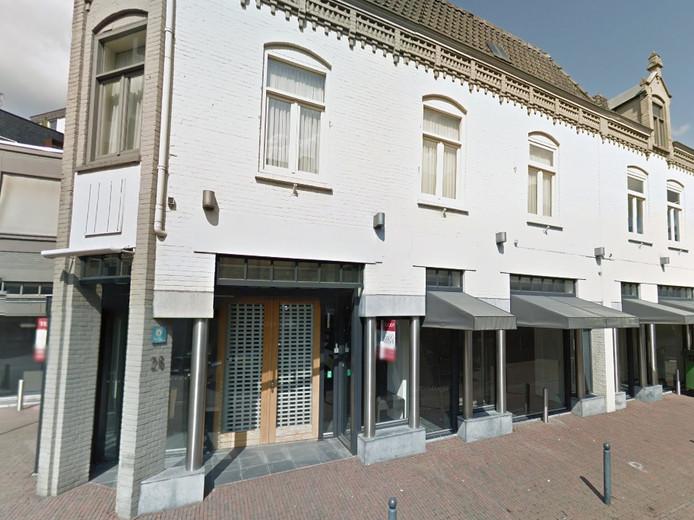 Het voormalige pand van mannenmodezaak Jeroen van den Akker aan de Molenstraat in Veghel.