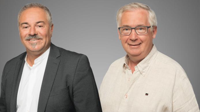 Michel Meesen (rechts) vervangt Luc Raman in de gemeenteraad voor N-VA - Zele Vlakaf.