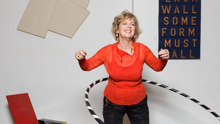 Simone van den Ende: 'Waar ik kwaad om word, is dat kunst niet zou mogen van publiek geld en voetbal wel' Beeld Ivo van der Bent