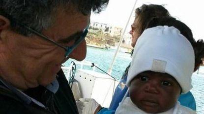 Negen maanden oude vluchtelingenbaby arriveert zonder ouders in Italië
