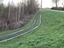 Crossers raggen op de dijken het zo belangrijke gras  aan gort