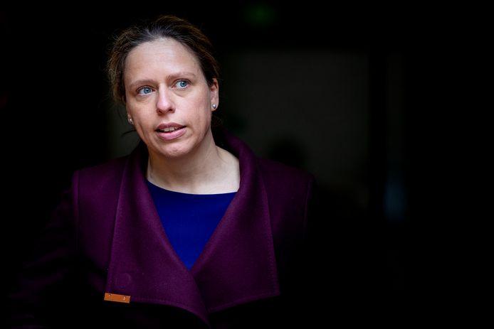 Minister Carola Schouten van Landbouw na afloop van de ministerraad