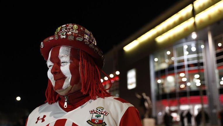 Southampton-supporter bij het stadion Beeld anp