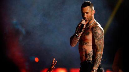 Maroon 5 brengt Super Bowl-show met Spongebob en een eigen nipplegate, maar kan toch weinig bekoren