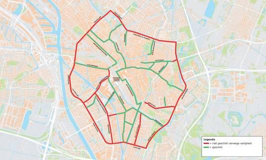 De gemeente acht het gebied binnen de stadsring als meest kansrijke gebied voor het verplaatsen van de snorfiets naar de rijbaan.