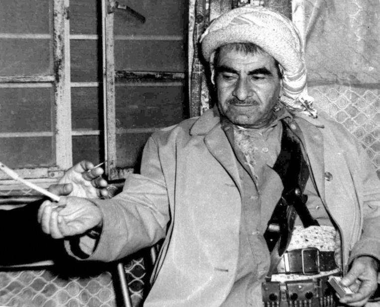 Mustafa Barzani, de oprichter van het peshmerga-leger. Beeld AFP