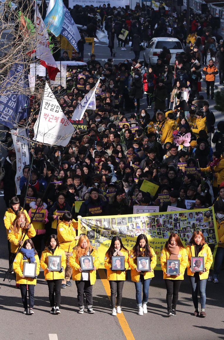 Elke week wordt er in Seoul gedemonstreerd voor eerherstel voor de zogenoemde