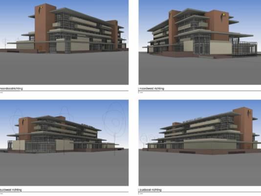 Zo komt het nieuwe hotel langs de A18 eruit te zien.