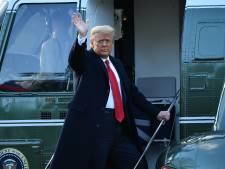 Trump verlaat voor de laatste keer het Witte Huis: 'Hopelijk is dit afscheid tijdelijk'