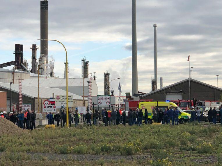 Ongeveer driehonderd personen moesten geëvacueerd worden bij Gunvor Petroleum.