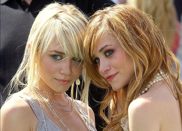 Ashley en Mary-Kate Olsen in 2004.