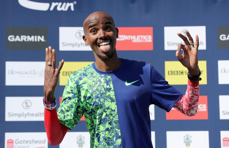 Sir Mo Farah de snelste in Newcastle.